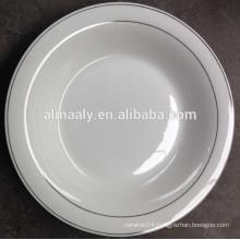 cheap porcelain gold rim plates