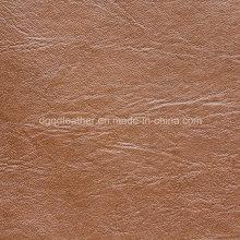 Couro artificial de alta qualidade cor clara de sola (qdl-53162)