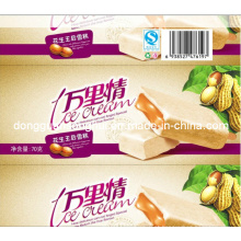 Luva plástica para o Lolly de gelo / picolé / gelado / luva do empacotamento de alimento
