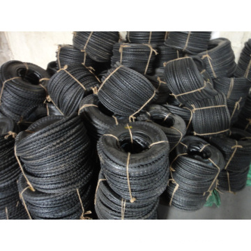 Cross Pattern Tire and Tube for Wheel Barrow Use