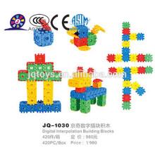 2016 bloques de construcción de plástico para niños para ventas