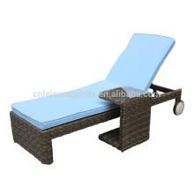 Unique design rattan hotel outdoor furniture sunbed