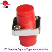 FC Simplex Square Type Adaptador de Fibra Óptica de Metal