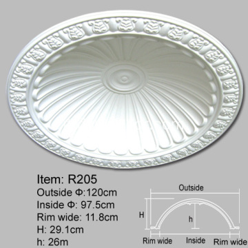 Cupole decorative del soffitto in poliuretano