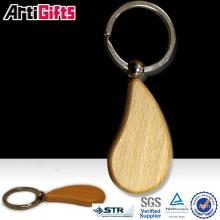 Produits promotionnels blanc porte-clés en bois