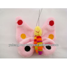 Promotional Fashionable Decorative Plush Butterfly Fridge Magnet