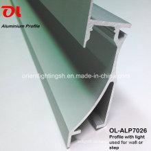 Aluminiumprofil mit LED-Streifen für Wandecke (ALP7026)