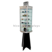 Eyeglass Retail Store Floor Snow Goggles Display Stands, Spinner Revolving Sunglasses Display Stand