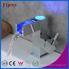 Auto-Power 3 cores LED Waterfall torneira de água da bacia de bronze (QH0615AF)