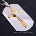 Stainless Steel Necklaces with Cross for Men Christian (IO-st239)