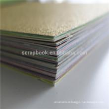 Carton carton glitter paillettes colorées