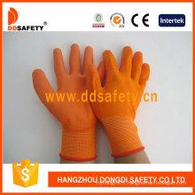 13 Gauge Orange Nylon Gloves Coating Dpu131
