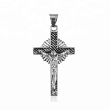 33451 xuping 2018 Latest design fashion  black gun color elegant Jesus cross pendant