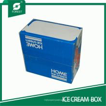 Caja de papel corrugada de tamaño medio para helado