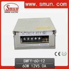 60W 12V 5A IP40 impermeable al aire libre fuente de alimentación de conmutación