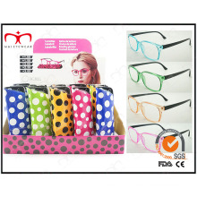 New Collection Colorful Pouch Pin Hinge Reading Glasses (WRP410266)