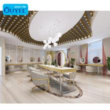 Luxury Beauty Center Design Makeup Furniture Beauty Salon Mirrors Station Salon Led Nail Bar