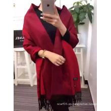 Bufanda de lana de color sólido