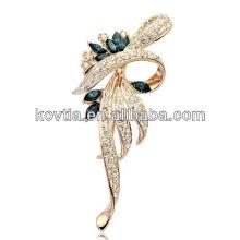 Full diamant bijoux en cristal de haute qualité broches en gros