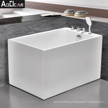 2021 Aoclear acrylic mini small freestanding square bath tub bathtubs 1200mm