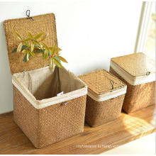 (BC-ST1080) Pure Manual Natural Straw Basket with Cover
