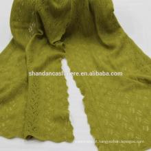 Fábrica de mongolia interna fabricou cachecol de malha de moda de Cashmere puro
