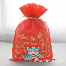 Lion Dance Red Happy New Year Sacchetti regalo
