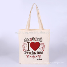 Reusable Natural Color Grocery Canvas Cotton Shopping Tote Bag For Promotion, Supermarket And Advertising
