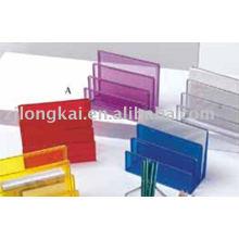 Organizador de escritorio de oficina tipos de malla metálica de papelería carpeta organizador titular