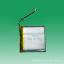 Bateria recarregável de Li-polímero de 3.7V 3000mAh 105050