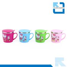 Cute Cartoon Pattern Stainless Steel Water Mug & Milk Cup for Children