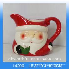 Küchenartikel Keramik Milchkännchen mit Santa Figur