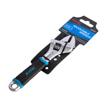 """FIXTEC Multifunction Repair Hand Tool CRV 6"""" 8"""" 10"""" 12"""" Adjustable Wrench With Soft Grip"""