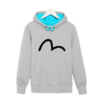 Einfache Grafik Pullover lose Stil warme Männer Hoodie Sweat Shirt