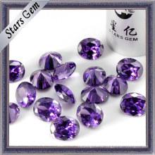 Причудливая форма Аметист Shinning CZ Gemstones (STG-73)