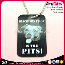 Bonne qualité métal estampillé chien décoration étiquettes de chien