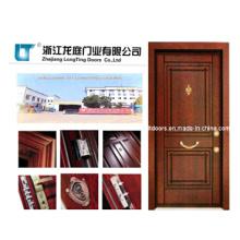 Nuevo turca madera puerta acorazada de acero con alta calidad