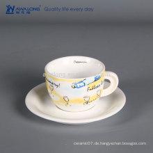 Billige keramische kaffeetasse nach Maß haltbare Porzellantee Tasse Und Sausers Ihr eigenes Design