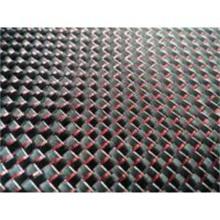 De Buena Calidad Hojas y placas de fibra de carbono aluminizadas rojas