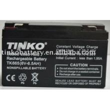 plomb acide 6v 6.5ah batterie avec une bonne qualité