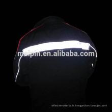 Sécurité de visibilité élevée Passepoil réfléchissant pour les uniformes