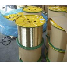 Fil en acier revêtu en laiton, fil de renforcement de tuyau, fil en acier revêtu de cuivre