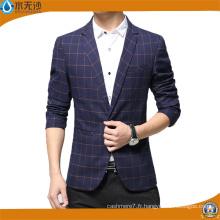 2017 Blazer Casual Coton Blazer Hommes Impression Blazer