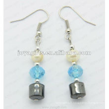 Boucles d'oreilles à perles de batterie à l'hématite magnétique