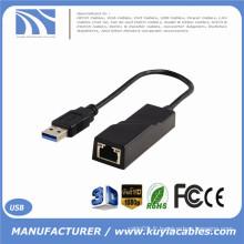 Adaptateur réseau USB 3.0 à 10/100/1000 RJ45 Gigabit Ethernet LAN pour PC portable