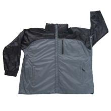 Hooded Mens imperméable à l'eau imperméable à la pluie veste manteaux habillement