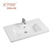 Lavabo rectangular de la encimera de la vanidad del lavabo del cuarto de baño