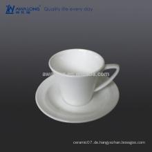 0.1L reiner Farben-einfacher Kaffeetasse-Entwurf, Knochen-China-Tee-Kaffeetasse und Untertasse