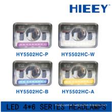 IP67 led headlight for big truck DOT Approval led headlight with parking light 10-30V led rectangular headlight with high beam