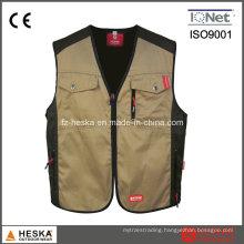 Work Clothing Men′s Poly Cotton Vest